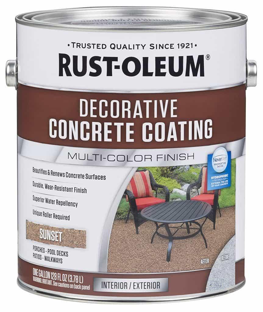 Rust-Oleum 301303 Decorative Concrete Coating, Sunset best patio paint garage review