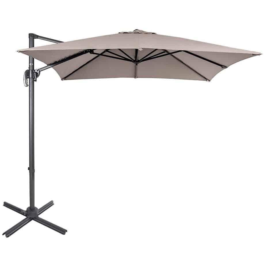 Sundale Outdoor 8.2ft Square Offset Hanging Umbrella Market best square patio umbrella