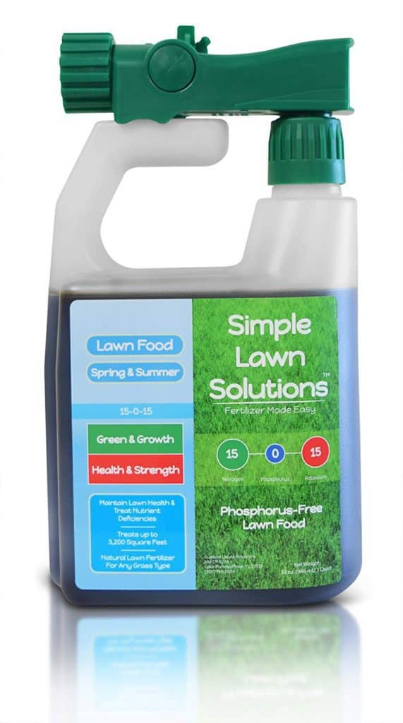 Superior Nitrogen & Potash 15-0-15 NPK- Lawn Food Natural Liquid Fertilizer spray best lawn booster