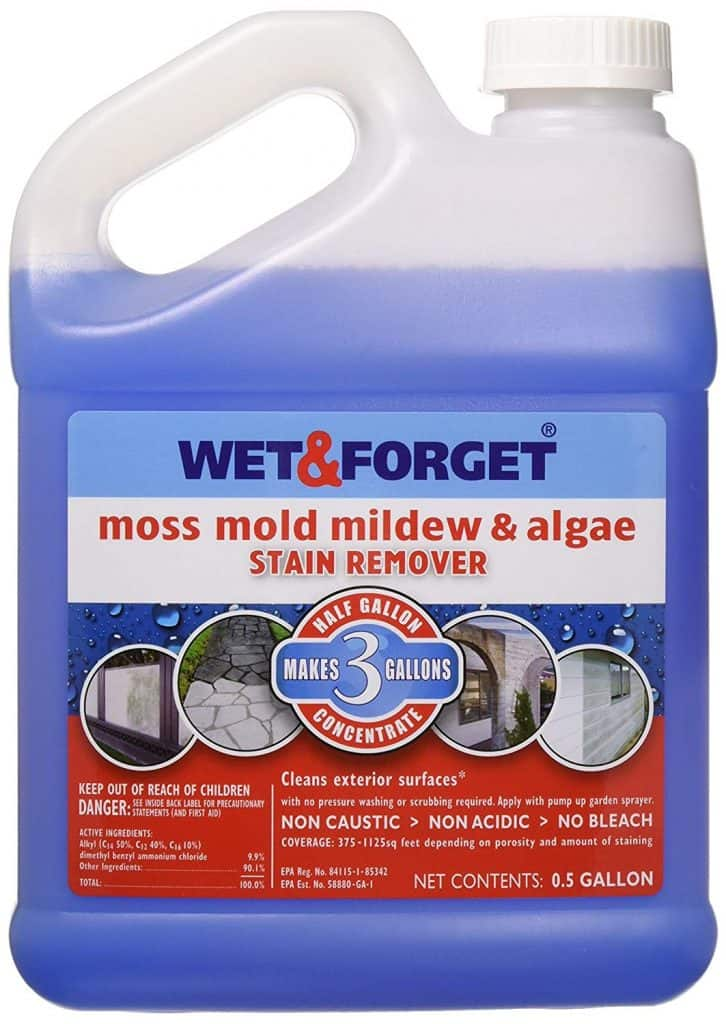 Wet and Forget 800003 Wet And Forget Moss Mold Mildew & Algae Stain Remover best industrial patio cleaner