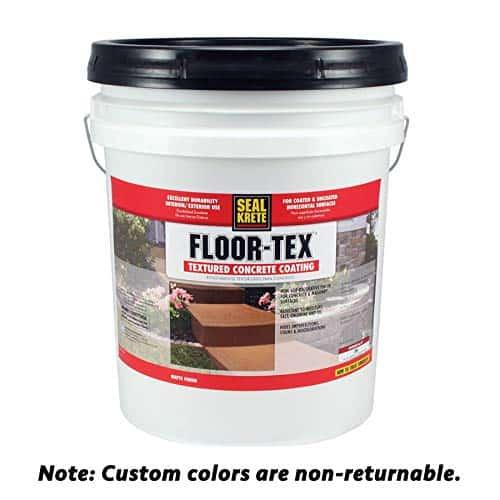 Floor -Tex 40 Textured Concrete Coating best patio paint garage review