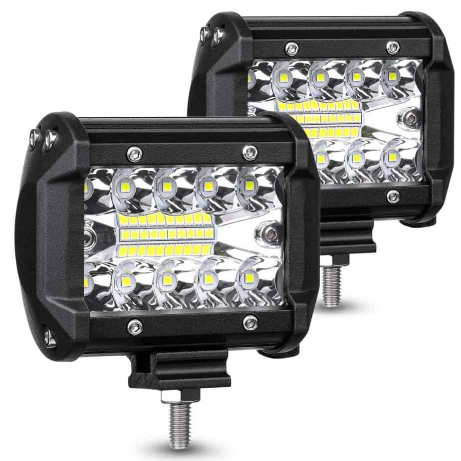 AMBOTHER LED Pods Light Bar 4 Inch 120w 12800lm Driving Fog Off Road Lights Triple Row Waterproof Spot Flood Combo Beam LED Cubes Lights best flood lights for boat