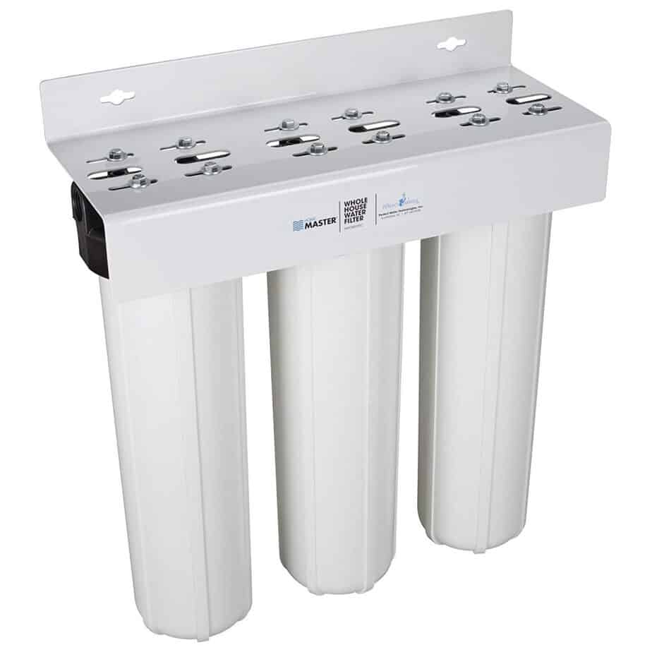 Home Master Whole House Three Stage Water Filtration System with Fine Sediment, Iron and Carbon best whole house water filter for hard water