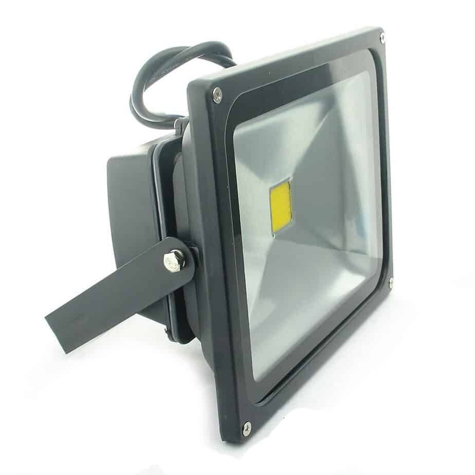 QUANS 30W Watt Warm White 12V 24V AC DC Ultra Bright LED Security Wash Flood Light Floodlight Lamp High Power Black Case Waterproof IP65 Work in The Rain Superbright 3000K best flood lights for boat