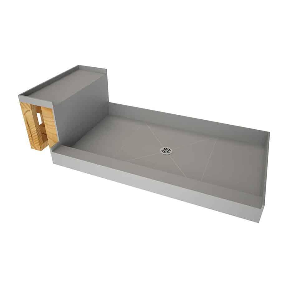 Tile Redi USA - Base'N Bench P3648C-RB36-KIT Tileable Shower Pan & Seat best shower base for tile