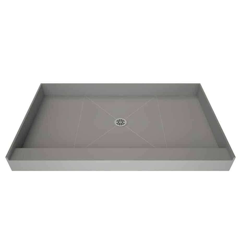 Tile Redi USA P3642C-PVC Base Shower Pan, 42 W x 36 D, Polished Chrome best shower base for tile reviews