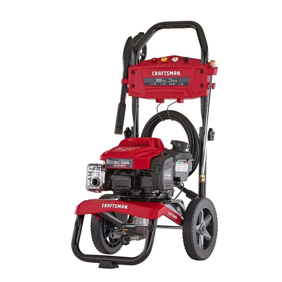 CRAFTSMAN CMXGWAS021022 3000 MAX PSI 2.5 MAX GPM Gas Pressure Washer Powered by Briggs & Stratton 190cc Engine with Idle Down Technology, Made in USA best pressure washer for 2 story house