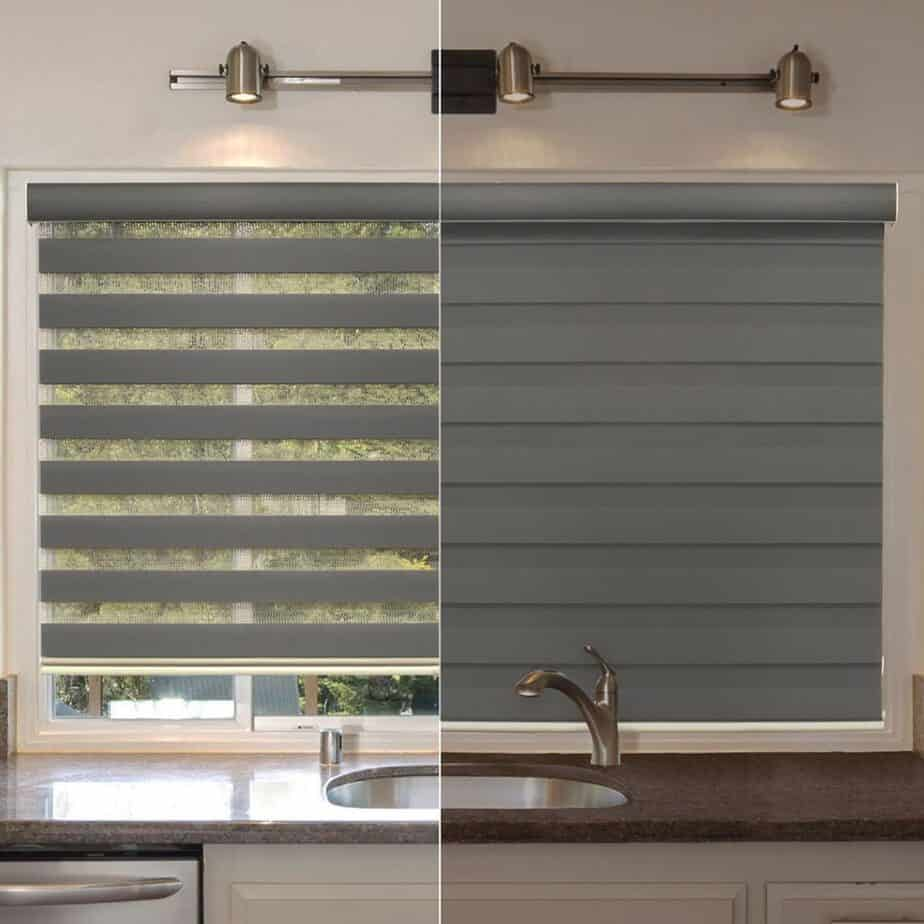 Combi Blind Curtain Drape, Dual Layer, Sheer or Privacy what are kitchen window treatments