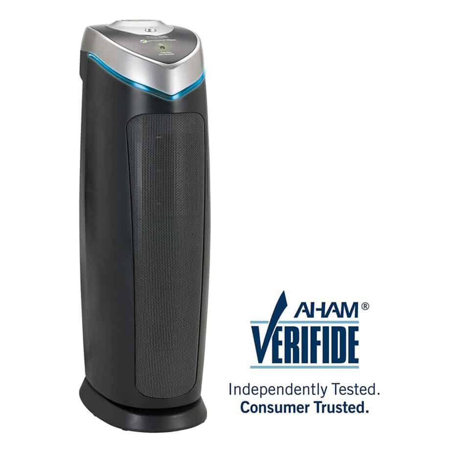 """Germ Guardian AC4825 22"""" 3-in-1 True HEPA Filter Air Purifier for Home, Full Room, UV-C Light Kills Germs, Filters Allergies, Smoke, Dust, Pet Dander, & Odors best air purifier for dust"""