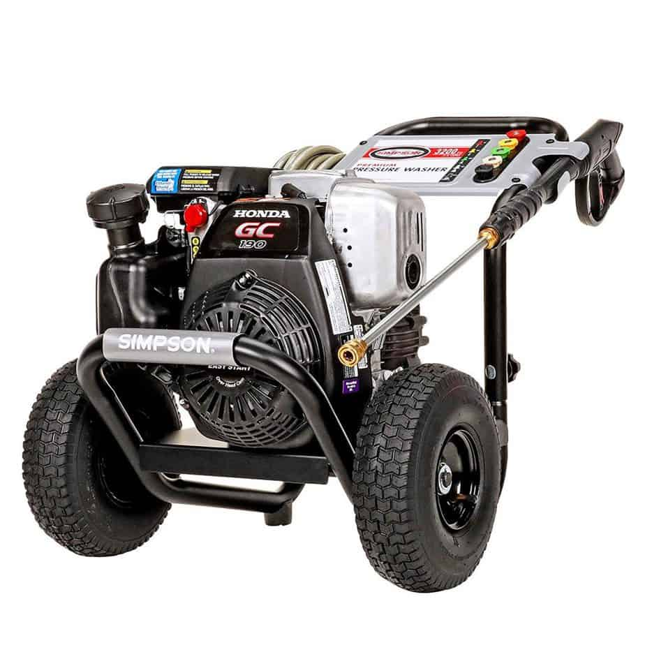Simpson MSH3125 MegaShot Gas Pressure Washer Powered by Honda GC190, 3200 PSI at 2.5 GPM best pressure washer for 2 story house