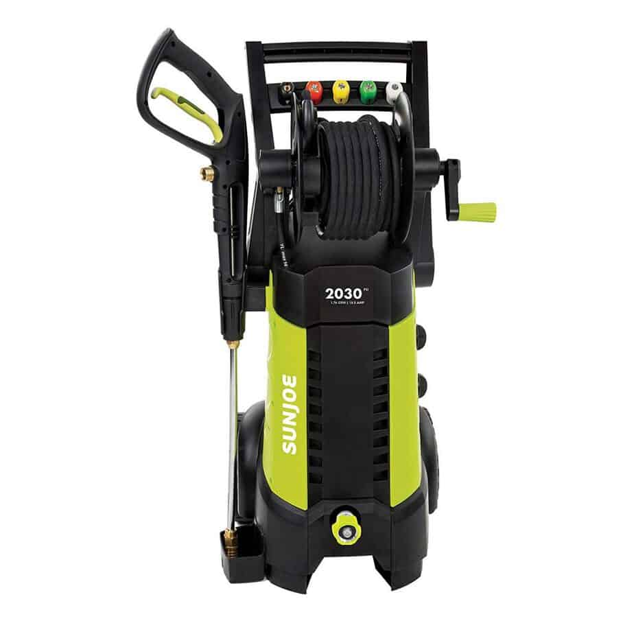 Sun Joe SPX3001 2030 PSI 1.76 GPM 14.5 AMP Electric Pressure Washer with Hose Reel best pressure washer for 2 story house review