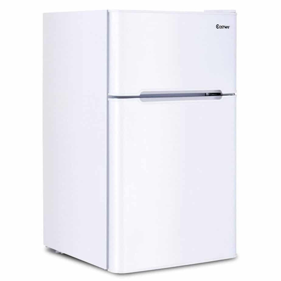 COSTWAY Compact Refrigerator 3.2 cu ft. Unit Small Freezer Cooler Fridge (White) best refrigerator for smallkitchen review