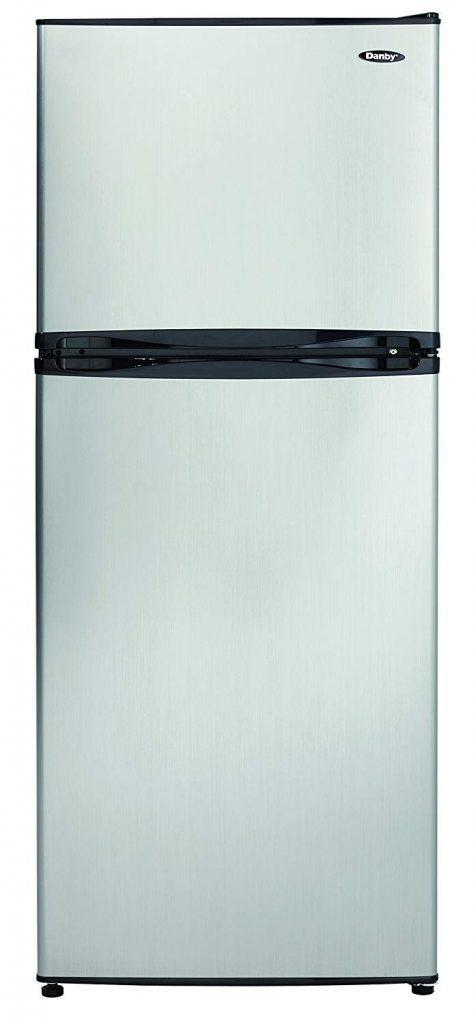 Danby DFF100C1BSLDB Refrigerator, 10.0 cu.ft, Stainless Steel best refrigerator for smallkitchens