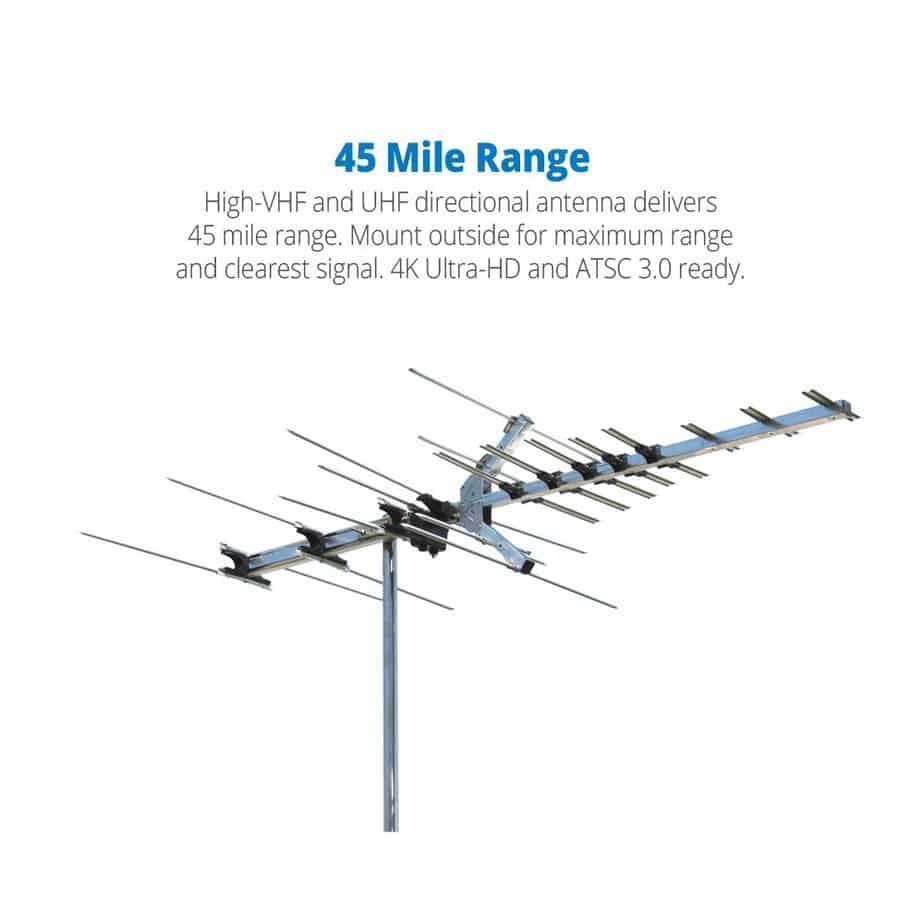 Winegard Platinum Series HD7694P Long Range TV Antenna (Outdoor Attic, 4K Ultra-HD Ready, ATSC 3.0 Ready, High-VHF UHF) review best attic antenna for multiple tvs