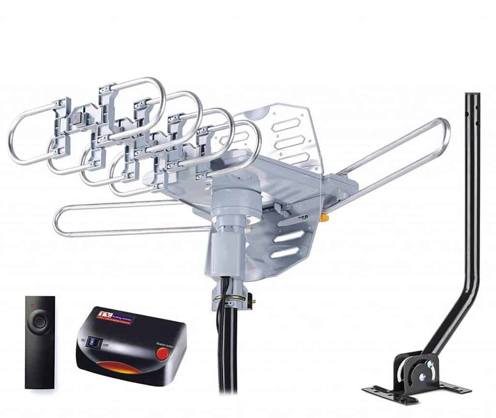 pingbingding HDTV Antenna Amplified Digital Outdoor Antenna with Mounting Pole & 40FT RG6 Coax Cable review best attic antenna for multiple tvs