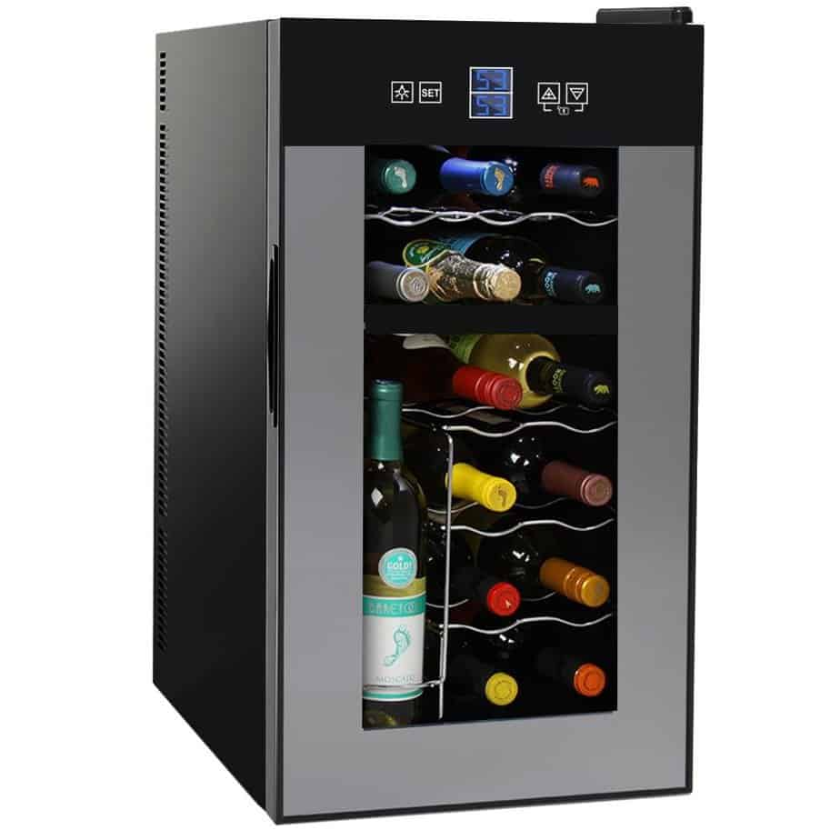 NutriChef PKTEWCDS1802 18 Bottle Dual Zone Thermoelectric Wine Cooler - Red and White Wine Chiller review