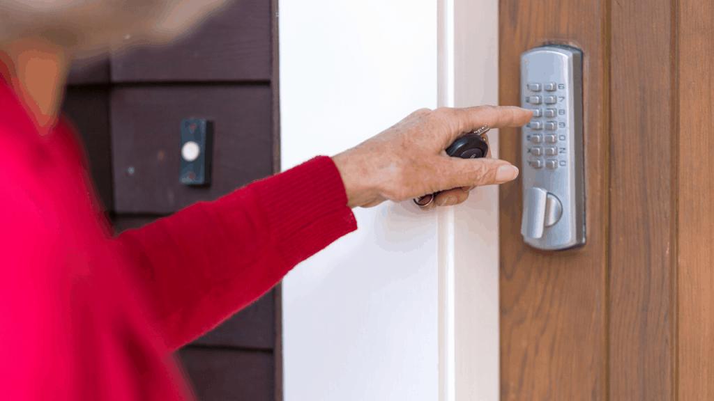 are garage door keypads safe