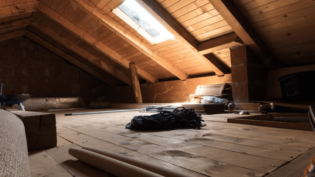 how much weight can an attic hold