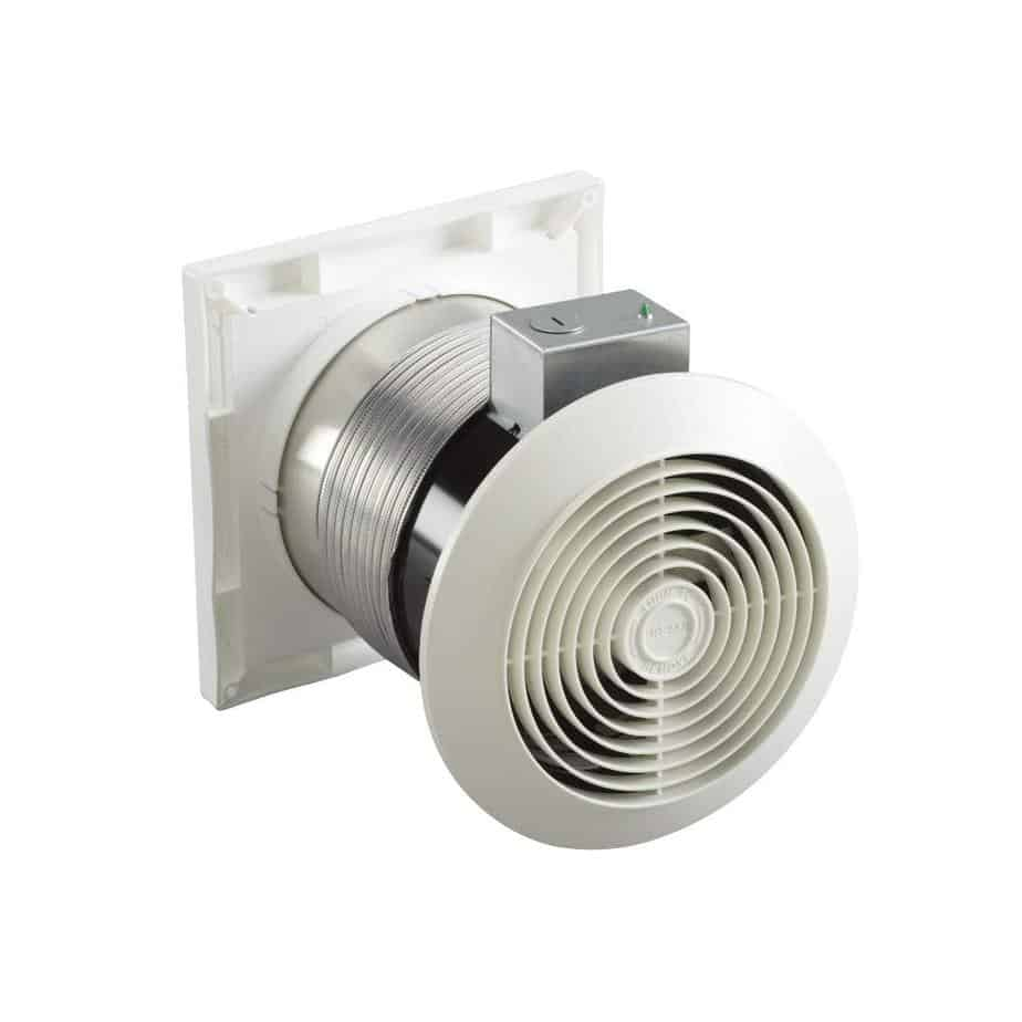 Broan-Nutone 512M Through-the-Wall Ventilation Fan, White Square Exhaust Fan, 6.0 Sones, 70 CFM, 6 best ventilation fan for basement