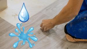 are vinyl floor tiles waterproof