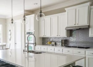 should kitchen cabinets match trim