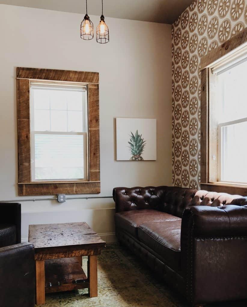 wallpaper room house tile over it