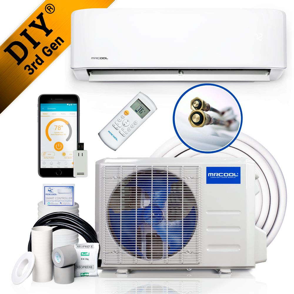 Mrcool Diy 12k Review SEER Ductless Heat Pump Split System 3rd Generation - Energy Star 230v (DIY-18-HP-230B)