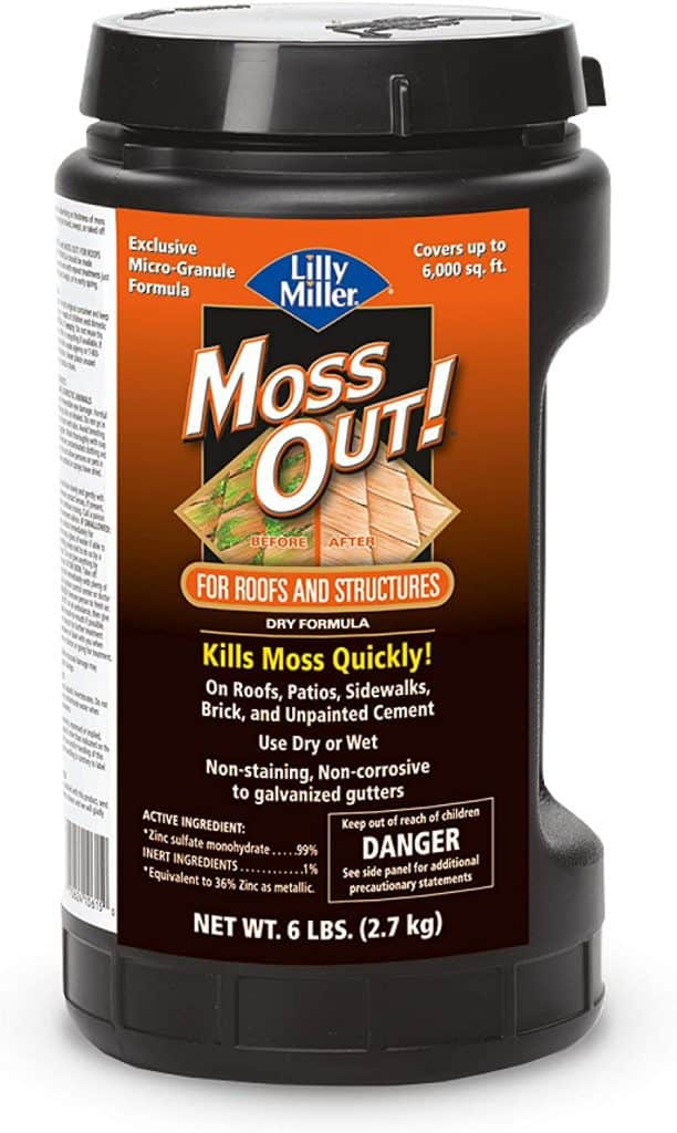 Lilly Miller Moss Out For Roofs And Structures,6lb review Best Moss Killer for Driveways