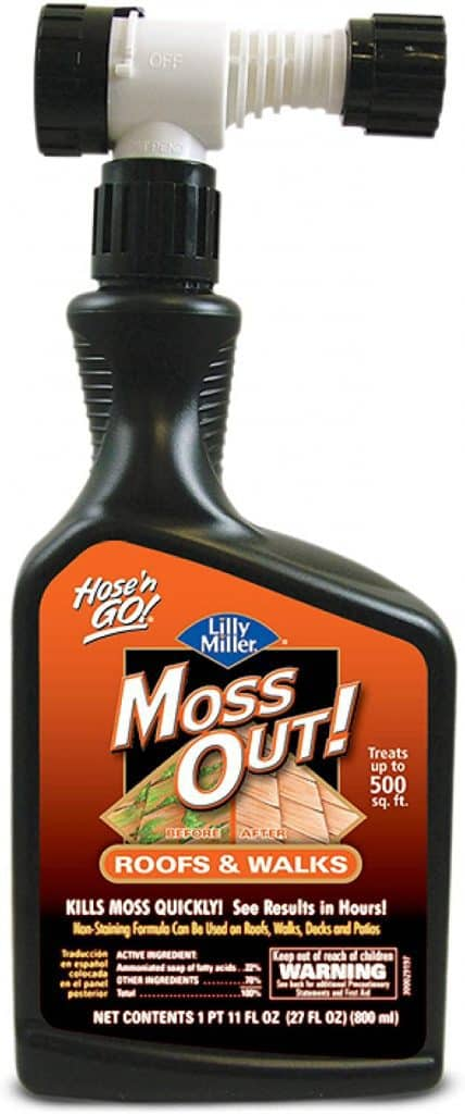 Lilly Miller Moss Out for Roofs and Walks Ready to Spray 27oz, 27 oz review Best Moss Killer for Driveways