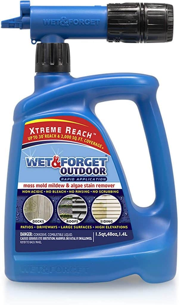 Wet & Forget Roof and Siding Cleaner for Easy Removal of Mold, Mildew and Algae Stains, Bleach-Free Formula review Best Moss Killer for Driveways